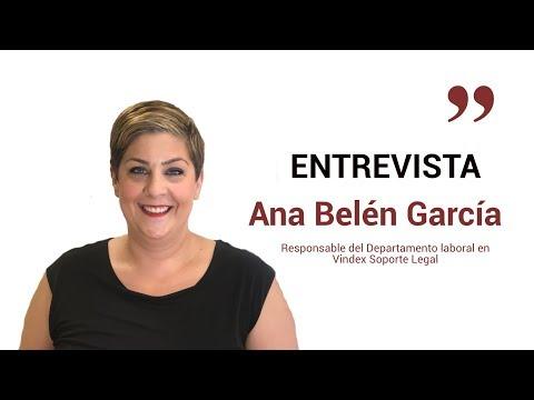 Entrevista Ana Belén García, responsable dpto. laboral de Vindex[;;;][;;;]