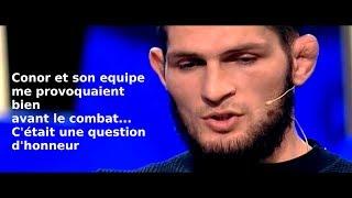 Exclusive Interview Khabib explains everything UFC 229