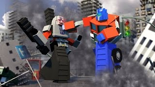 Minecraft | Good vs Evil - TRANSFORMERS BASE DEFENSE! (Optimus vs Megatron)