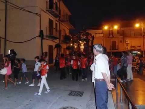 Sciara, ss.m crocifisso piccolo scorcio della processione