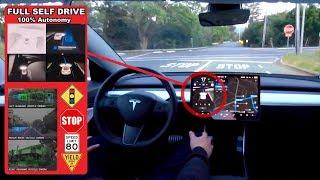 Tesla Full Self-Drive Video Break Down - AP3 FSD Self Driving Autonomous Model 3 In Detail
