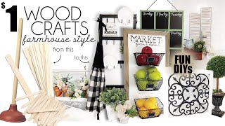 Dollar Tree DIYs | Wood Crafts | Farmhouse Decore DIYs | Dollar Tree Farmhouse DIYs
