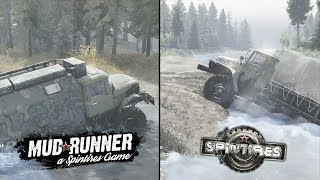 Spintires: Mudrunner против Spintires (сравнение / comparison)