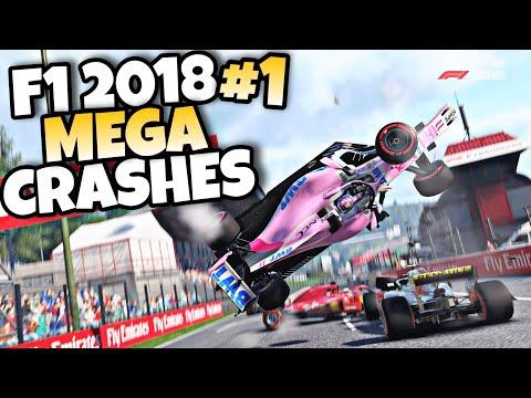 F1 2018 MEGA CRASHES #1