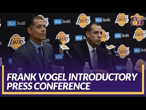 Lakers Press Conference: Frank Vogel is Introduced as Head Coach, Pelinka Responds to Magic Johnson