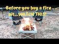REVIEW: The Best Portable Fire Pit? FIRESIDE OUTDOOR POP-UP PIT