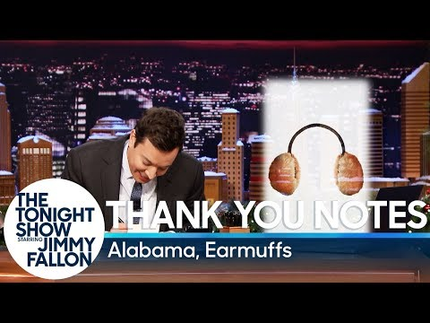 Thank You Notes: Alabama, Earmuffs
