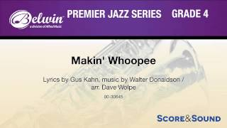 Makin' Whoopee, arr. Dave Wolpe – Score & Sound