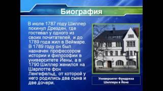 Презентация Фридрих Шиллер