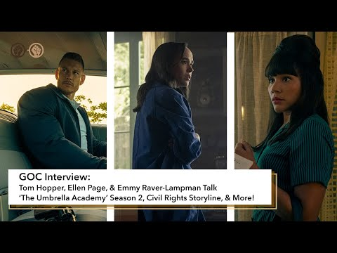 Tom Hopper, Ellen Page, and Emmy Raver-Lampman Talk Season 2 of 'The Umbrella Academy'