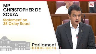 MP Christopher De Souza's Statement On 38 Oxley Road