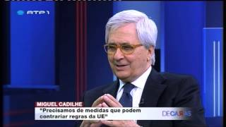 """Miguel Cadilhe Em Entrevista A Vítor Gonçalves No Programa """"De Caras"""" Da RTP1"""