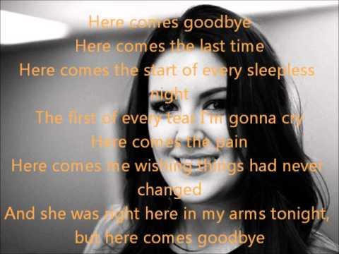 Kree Harrison-Here Comes Goodbye-American Idol 12[Lyrics]
