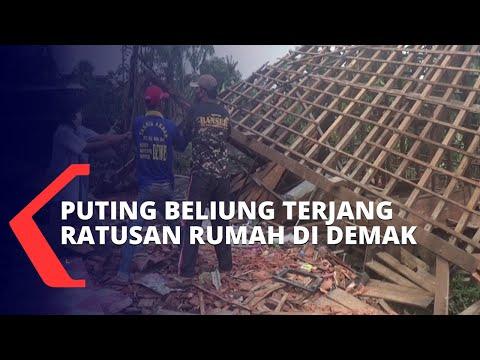 Ratusan Rumah Warga di Demak Rusak Diterjang Angin Puting Beliung