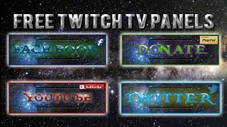 FREE Twitch Tv Panels/Buttons | Pack 2