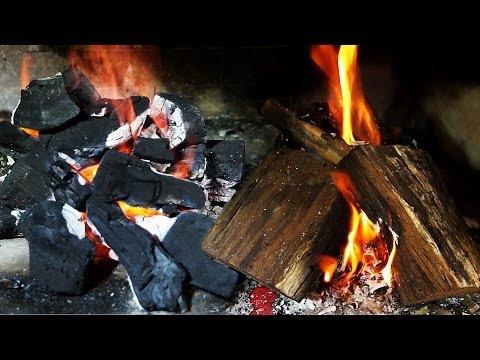Como Prender el Fuego para el Asado! Carbón y Leña