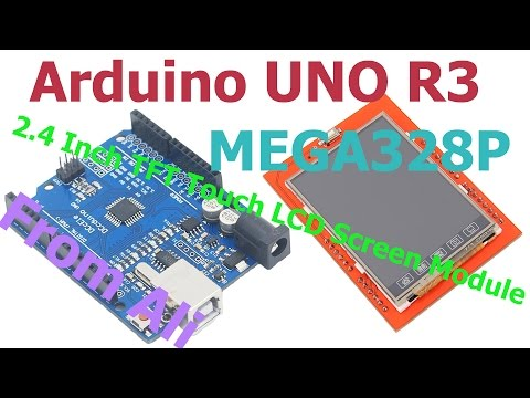 Arduino UNO R3 + 2.4 Inch TFT Touch LCD Screen Module + Test