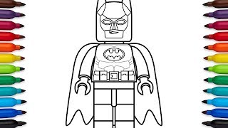 How To Draw Lego Batman - Coloring Pages