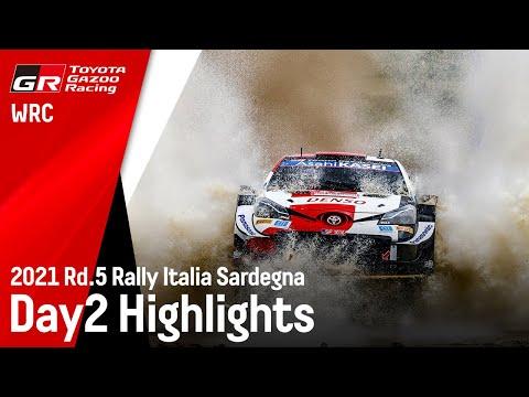 WRC 2021 第5戦ラリー・イタリア ToyotaGazooRacingのDay2ハイライト動画