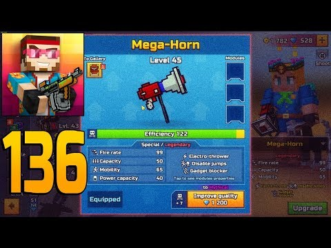 Pixel Gun 3D - Gameplay Walkthrough Part 136 - Mega-Horn