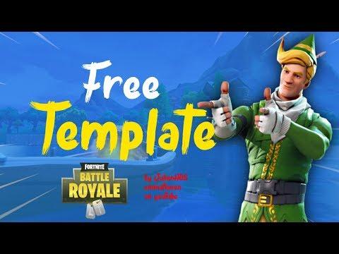 FREE* Fortnite Thumbnail template Speedart! - смотреть