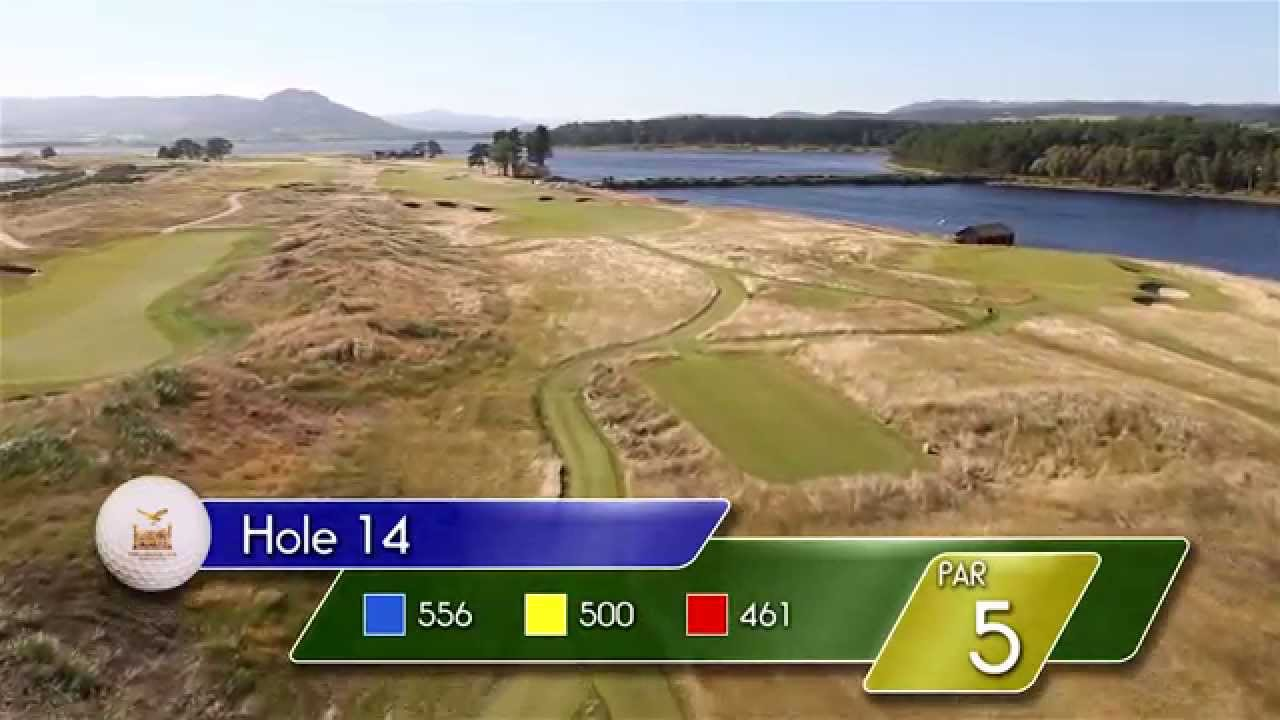 Carnegie Links Hole 14 - YouTube video