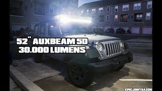"52"" Auxbeam 5D LED Light Bar | 2017 Jeep Wrangler JK"
