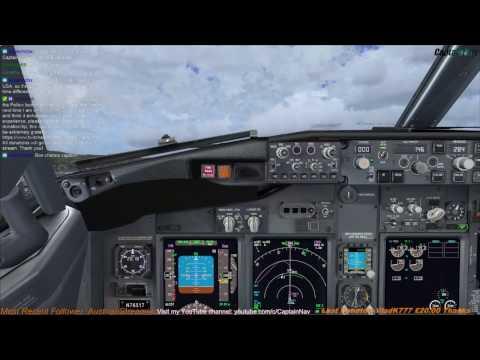 Full flight) B-737 from KSFO to KLAX (With ATC) - смотреть онлайн на