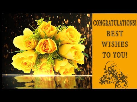 💖 Congratulations! Best wishes!💖 Best Animated Greeting Card 4K