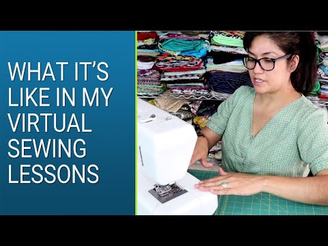 Virtual Sewing Lessons - Learn to Sew With Me in Live, Real-time Sewing Classes