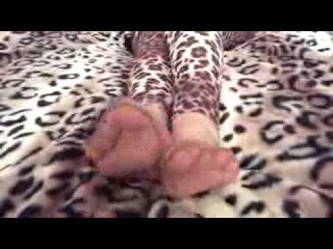 Sole play on the bed in my sheer rht's   YouTube