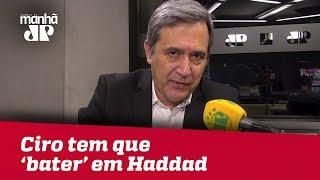 Ciro, para ir ao 2º turno, tem que 'bater' em Haddad | Marco Antonio Villa