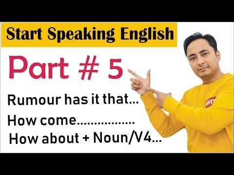 How to Start Speaking English Part 5 | How to Speak Fluent English