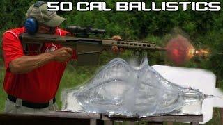 BARRETT 50 CAL Vs BALLISTICS GEL 50 BMG Ballistics Testing In SUPER SlowMo 4K