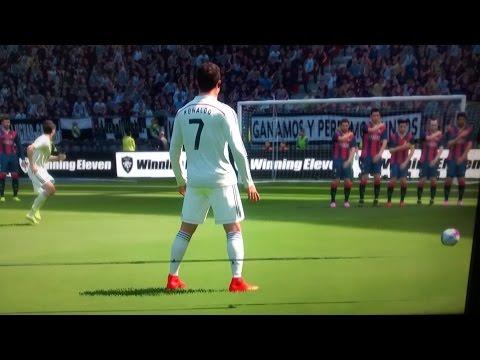 PES 2015 Cristiano Ronaldo Free Kick HD
