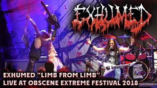 """Exhumed """"Limb from Limb"""" - Live at Obscene Extreme 2018"""