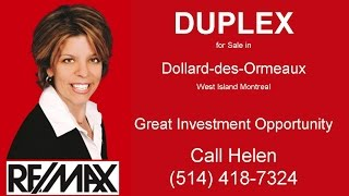 preview picture of video 'Duplex for Sale Dollard-des-Ormeaux West Island Montreal - DDO Duplex for Sale'
