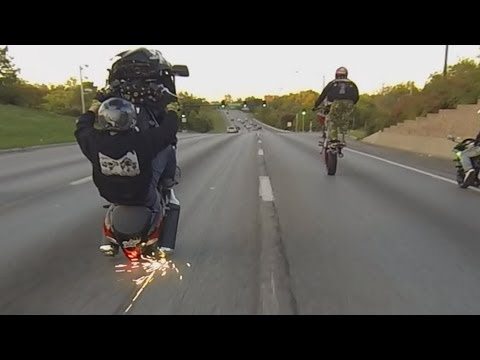 Hayabusa Motorcycle Stunts On the Streets | Wheelies + Drifts