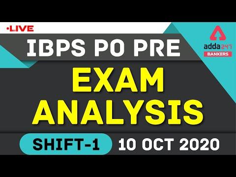 IBPS PO Prelims Exam Analysis 2020 Shift 1 (October 10 ... - YouTube