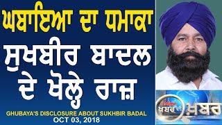 Prime Khabar Di Khabar 577_Ghubaya's Disclosure About Sukhbir Badal