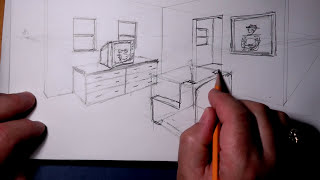 2 Pt Perspective Wireframe room