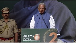 Governor of Karnataka, Shri Vajubhai Rudabhai Vala speaks on 2 Billion Meals Commemoration