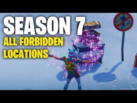 Fortnite Easiest 7 Forbidden Dance Locations Season 7 Weekly