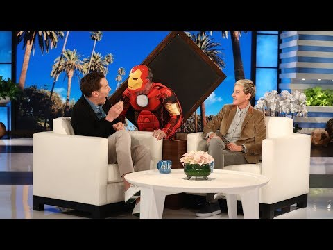Benedict Cumberbatch Gets a Scare from 'Iron Man' (видео)