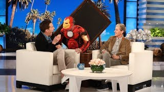 Бенедикт Камбербэтч, Benedict Cumberbatch Gets a Scare from 'Iron Man'