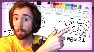 Asmongold Does a Draw My Life & How to Get a Girlfriend
