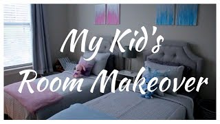 MY KIDS ROOM MAKEOVER BOY / GIRL SHARED ROOM