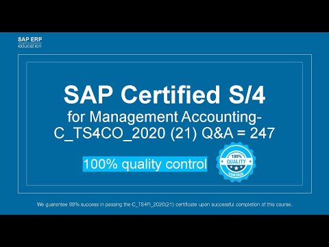 Certification of Management Accounting in SAP S/4HANA - YouTube