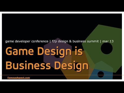 Game Design is Business Design - game monetization talk from GDC '13