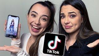 Making Veronica's First Tik Tok - Merrell Twins Live